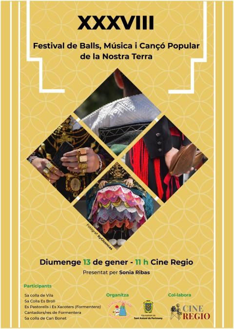XXXVIII FESTIVAL DE BALLS, MÚSICA I CANÇÓ POPULAR DE LA NOSTRA TERRA